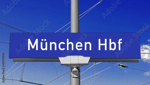 Leinwandbild Motiv Münchener Hauptbahnhof