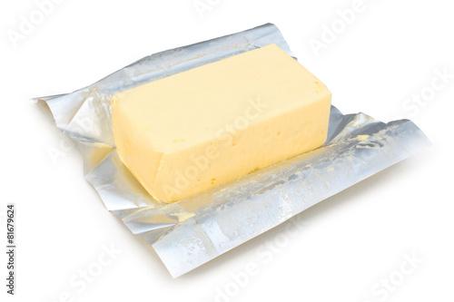 Foto op Canvas Zuivelproducten Plaquette de beurre