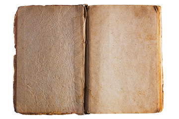 Antique textured opened book pages
