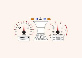 automotive icon car dashboard vehicle speedometer concept