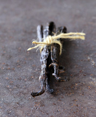 natural organic vanilla pods, for the aromatic baking