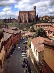 View at basilica San Domenico. Siena, Italy.