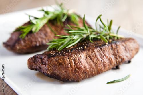 Tuinposter Vlees Gebratenes Filet