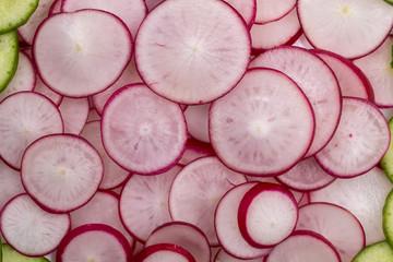 radishes as background