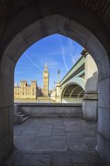 Big Ben through the pedestrian tunnel
