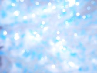 bokeh blue and white