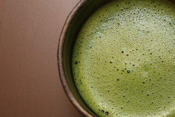 cup of japanese matcha green tea