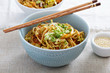 Stir fry with noodles, cabbage and carrot - 81681885