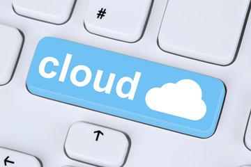 Symbol Cloud Computing online im Internet