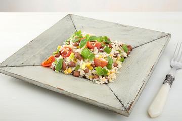riso vegetariano legumi e verdure