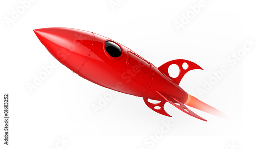 Red rocket flying - 81683252