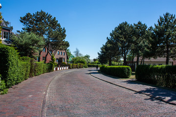 Kopfsteinpflaster auf Wangerooge