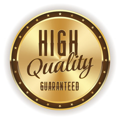 Gold high quality badge on white background