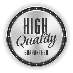 Silver high quality badge on white background
