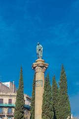 Jacint Verdaguer monument.  Barcelona, Spain.