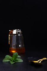 honey on glass jar