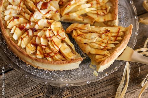 Leinwandbild Motiv tarte à la pomme caramel 4