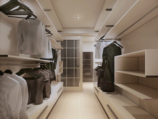 Luxury wardrobe in modern style
