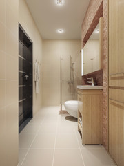 Spacious bathroom interior