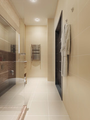 Modern style bathroom interior