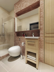 Loft style bathroom interior