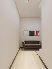 Corridor in minimalism style