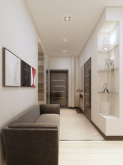 Luxury corridor in modern style