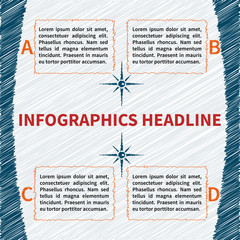 Sketchy infographics template