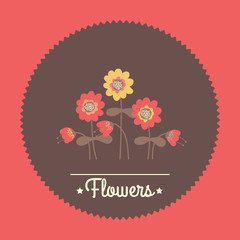 Amazing cute seamless vintage colorful floral illustration