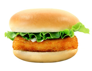 Photo Burger with fish fillets