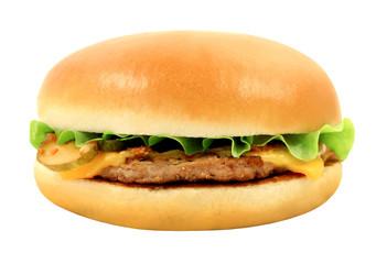 Macro photo delicious cheeseburger