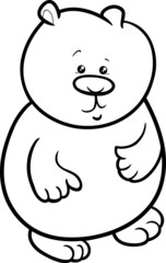 little bear cartoon coloring page