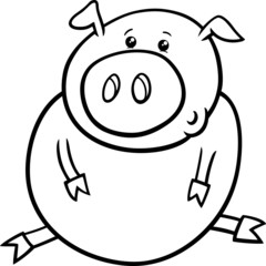 little pig or piglet coloring page