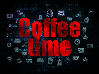 Timeline concept: Coffee Time on Digital background