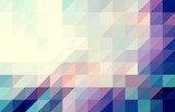 Purple and blue colored triangular pattern background