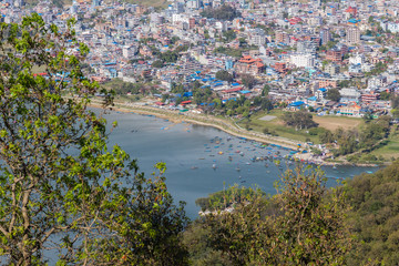 View of the city Pokhara