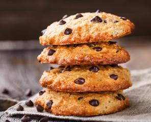 Oastmeal cookies with chocolate