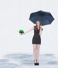 Rain tree life girl