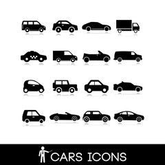 Car set icons 9 - stock vector