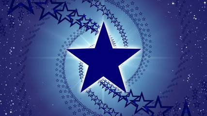 blue abstract loop motion background, rotate stars