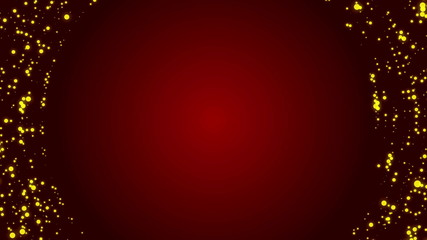 abstract loop motion red background, particle element