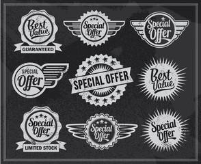 Vintage Chalkboard Labels
