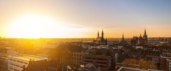Aachen im morgenlicht
