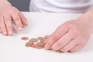Kleingeld zählen
