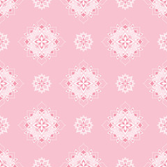 Vintage seamless texture on Pink background.