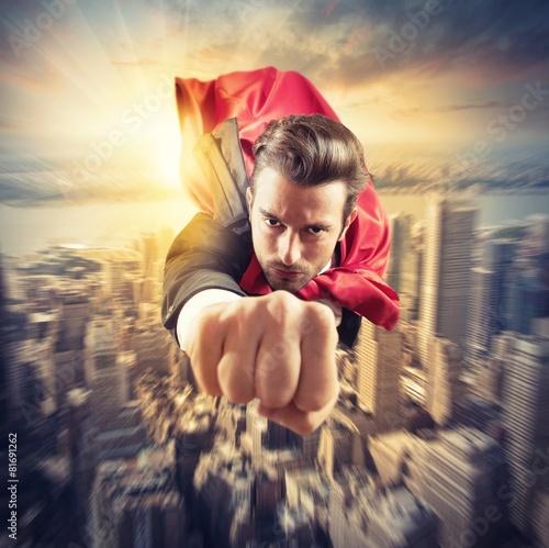 Superhero flies faster - 81691262