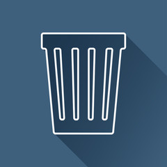 Vector flat basket icon  isolated outline. Eps10