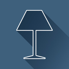 Vector flat reading-lamp icon isolated outline. Eps10