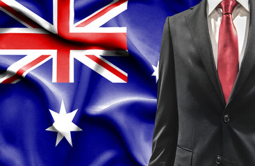 Man in suit from Australia