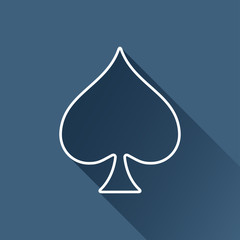 Vector flat isolate game spade icon. Eps10